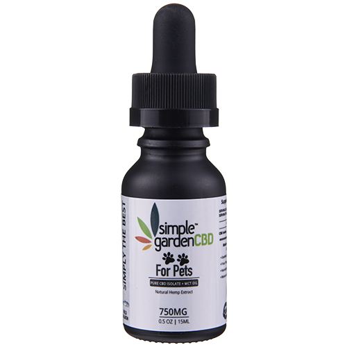 Buy 750MG Pet CBD Tinctures Online or In Store from Simple Garden CBD